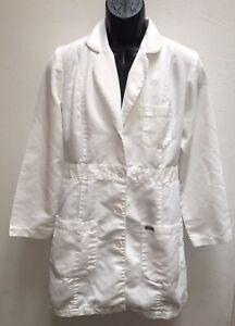 Grey's Anatomy Womens Medium White Lab Coat Jacket