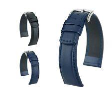 """HIRSCH Calfskin Watch Band """"Runner"""", 18-24 mm, 2 colors, new!"""