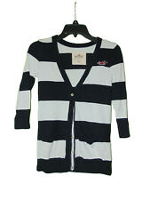Hollister Cardigan Sweater XS Women Black And White