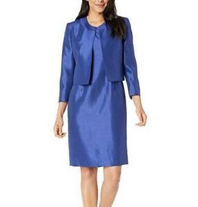 LE SUIT® 18 Deep Night Blue Jacket & Sheath Dress Suit NWT $240