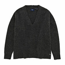 Superdry Isabella Slouch Vee Femme Pull Sweater - Charcoal Mix Marl