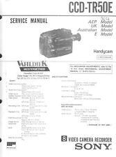 Sony Original Service Manual für Video 8  Handycam CCD-TR  50E