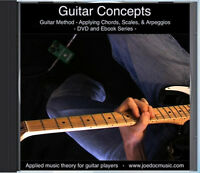 Learn to Play LEAD GUITAR DVD Video Lessons - Scales Chords & Arpeggios Applied!