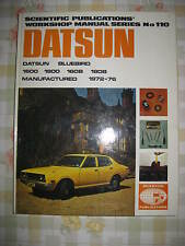 Datsun Bluebird 160B 180B (1972-76) - NEW Old Stock Book/SP Manuel