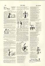 1900 Lord ROBERTS REAL MILITARE TORNEO vincitore Harry Furniss cartoni animati