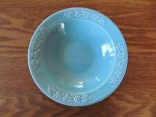 Santa Anita Ware turquoise blue cereal bowl