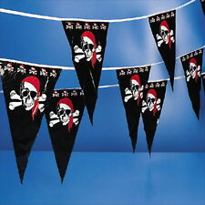 100FT PIRATE PENNANT PIRATE PARTY DECORATION NEW
