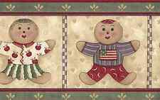 ~1 Roll Wallpaper Border~ Gingerbread Boy and Girl Decorative 5 yards Vinyl