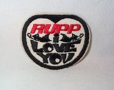 Nos Vintage Rupp I Love You sew on patch/sticker