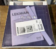 Brand New Ikea Lekman Purple Plastic Box Basket Storage Organizer