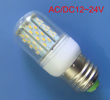 1x E27 AC/DC12~24V LED Corn Bulb 78-3014 SMD lamp light 4W Warm White with Cover