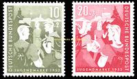 EBS Germany 1952 Youth Plan - Hiking & Youth Hostels Michel 153-154 MNH** cv$71!