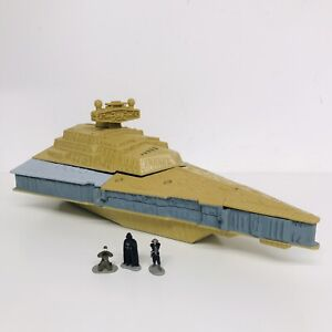Star Wars Micro Machines Star Destroyer Playset 1997 - INCOMPLETE & DISCOLOURED
