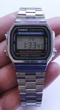 Men's Casio Illuminator Silver Tone Digital Watch Model A168
