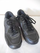 Nike Air Max Black Athletic Shoes Sneakers Sz 5 Y Eu 37.5 Unisex non marking