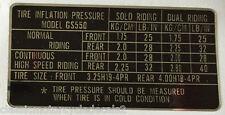 SUZUKI GS550 TYRE PRESSURE CAUTION WARNING DECAL LABEL
