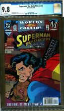 SUPERMAN THE MAN OF STEEL 35 CGC 9.8 1ST STATIC IN DC CONTINUITY WORLDS COLLIDE