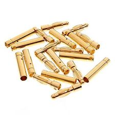 10pairs 4.0mm 4mm Gold Bullet Connector for RC battery motor ESC
