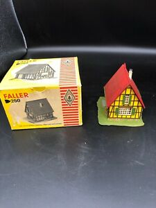 VINTAGE FALLER HO 250 HALF TIMBERED HOUSE FACTORY BUILT W Original Box