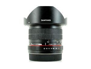 Samyang 8mm f/3.5 IF UMC CS II Canon EF-S Fit Lens