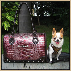 Bling Sparkly Crocodile Travel Pet Carrier Handbag Dog Carrier Bag Cat Bag