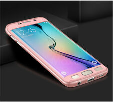 Hybrid 360° Hard Case Full Cover Strong Samsung Galaxy S6 Edge in Rose Gold