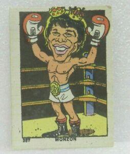 CARLOS MONZON Nº 387 1976 ORIGINAL BOXING CARD