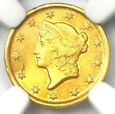 1853-D Liberty Gold Dollar G$1 - Certified NGC AU Detail - Rare Dahlonega Coin!