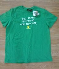 Womens SIZE M 48/10 John Deere WILL TRADE HUSBAND FOR TRACTOR T-SHIRT New