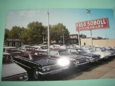 Car dealership Fred Soboll 1960s Philadelphia auto dealer postcard
