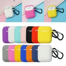 Silicone Airpods Charging Case Protective Cover with Carabiner AirPods Box Carry