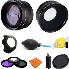 58Mm Vivitar Lenses+Filters+ Accessories for Canon Eos Rebel T3 T4 T5 T3I T4I Xs