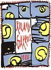 "PIERRE ALECHINSKY Roland Garros French Open 28.75"" x 21.25"" Poster 1988"