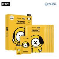 BTS Official BT21 CHIMMY Mediheal Face Point Mask Sheet 4pcs Bookmark Postcard