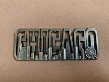 Chicago Bronze Metal Souvenir Magnet