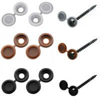 O3A6 pack of 50 screw cap cup washer hinged cover black