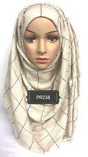 Hijab print head scarf maxi chiffon jersey lycra crimp cotton  viscose PR238