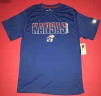 University of Kansas KU Jayhawks T-Shirt Adult Large NWT NCAA Blue