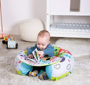 Sit Me Up Inflatable Ring Baby Play Chair Tray Playnest Activity Seat Boy Blue