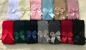 PERFECT PRINCESS Spanish Double Bow Tights. Baby/Girls/School Uniform