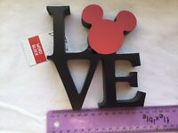 DISNEY MICKEY LOVE WORD BLOCK WOODEN SIGN DECOR BRAND NEW DISNEY PRIMARK