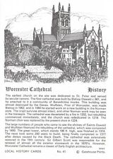 Postcard / Local History Card Worcester Cathedral by Gatehouse Prints