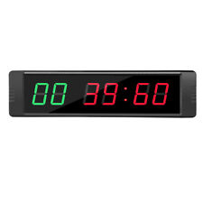6 Digits Programmable LED Interval Timer Clock Countdown/up Wall-mounted for Gym