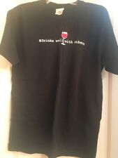 Drinks well with others t-shirt. Black Size M