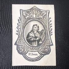 Image Pieuse St Jean XVIIIè HOLY CARD 18thC Santino