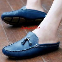men soft leather all-match Moccasins loafer slipper Driving casual slip on shoes