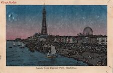 Postcard Sands from Central Pier Blackpool Uk