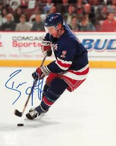 Brian Leetch New York Rangers Autograph 8x10 *1055