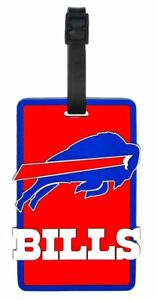 Buffalo Bills Travel Bag Tag Luggage ID Tag Team Colors NFL