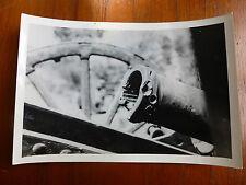 Lot04 - WW2 Original Photo BRITISH ARMY GUN / Cannon with SHRAPNEL Damage 1945